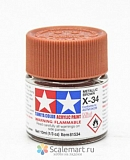 81534 X-34 METALLIC BROWN, ACRYLIC PAINT MINI 10 ML. (КОРИЧНЕВЫЙ МЕТАЛЛИК) TAMIYA